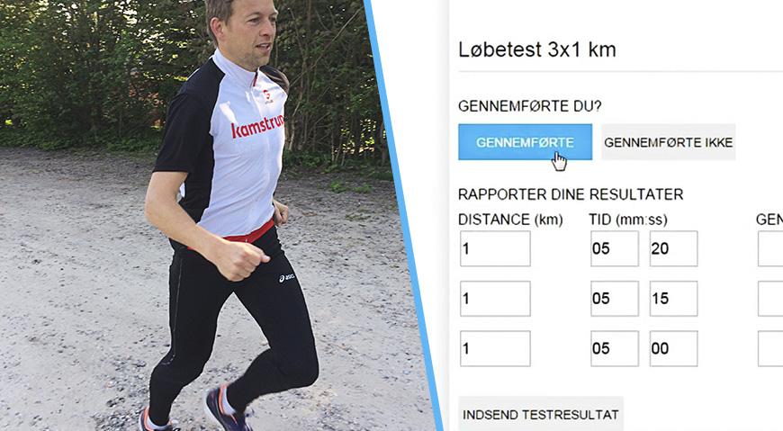 Løbeshop-training - Løbetest