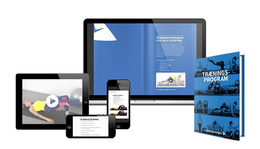 E-bog med fitnessøvelser