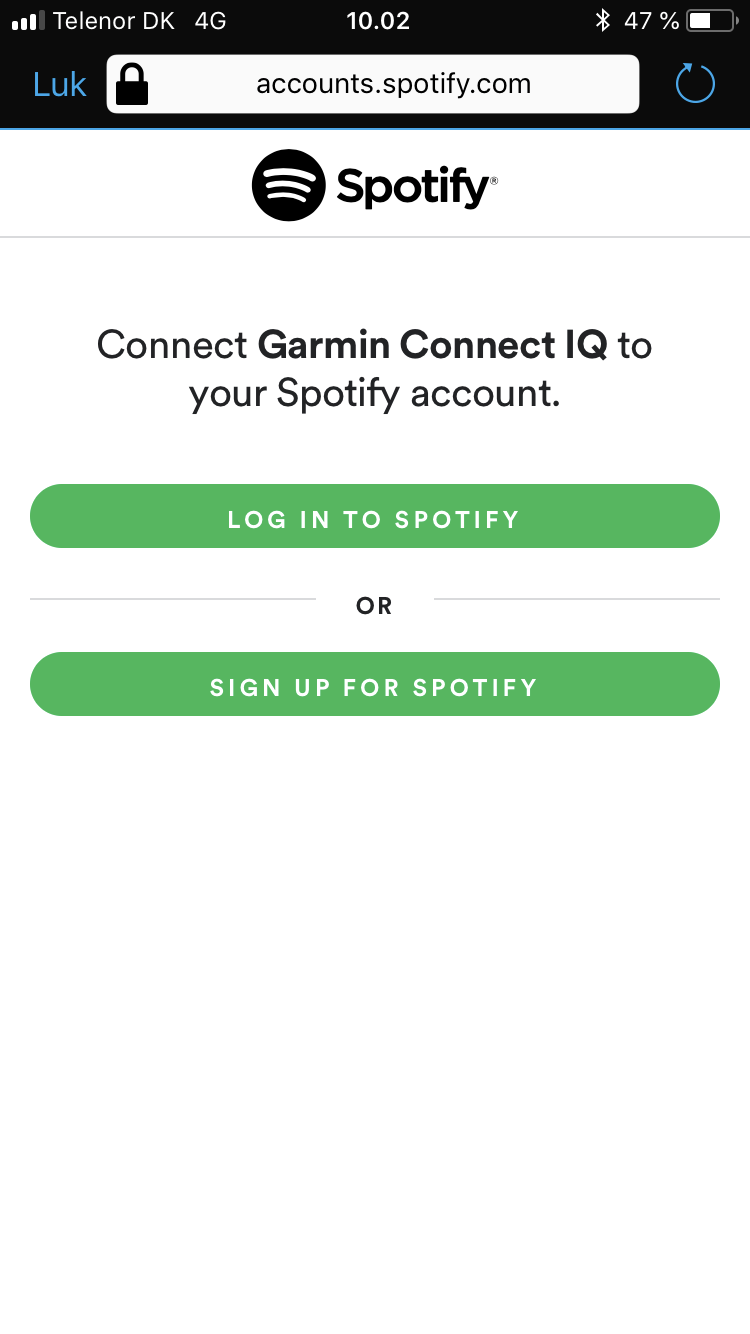 Garmin spotify