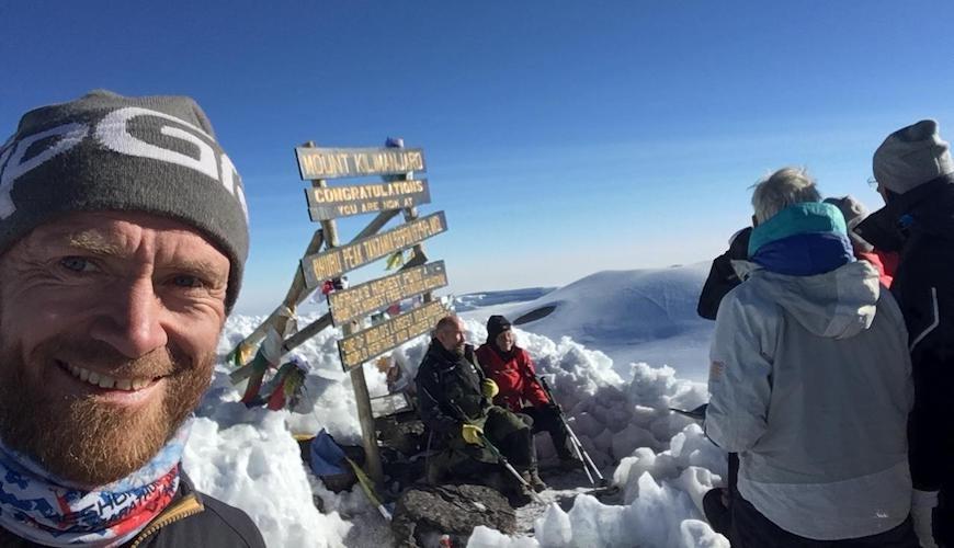 kilimanjaro løb simon grimstrup toppen