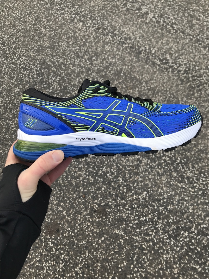 asics gel-nimbus 21 test