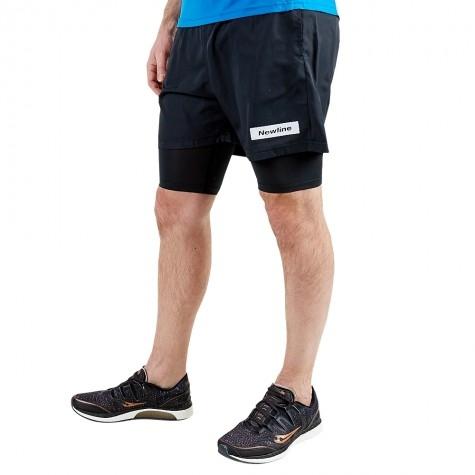 newline black 2-lay shorts
