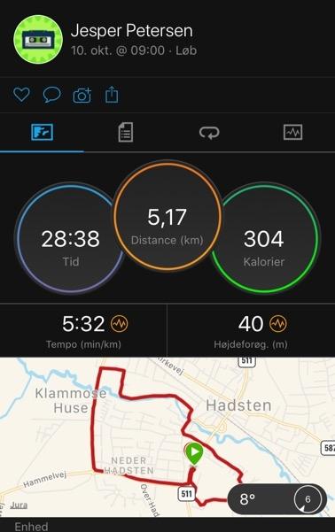 garmin connect 5 km løb