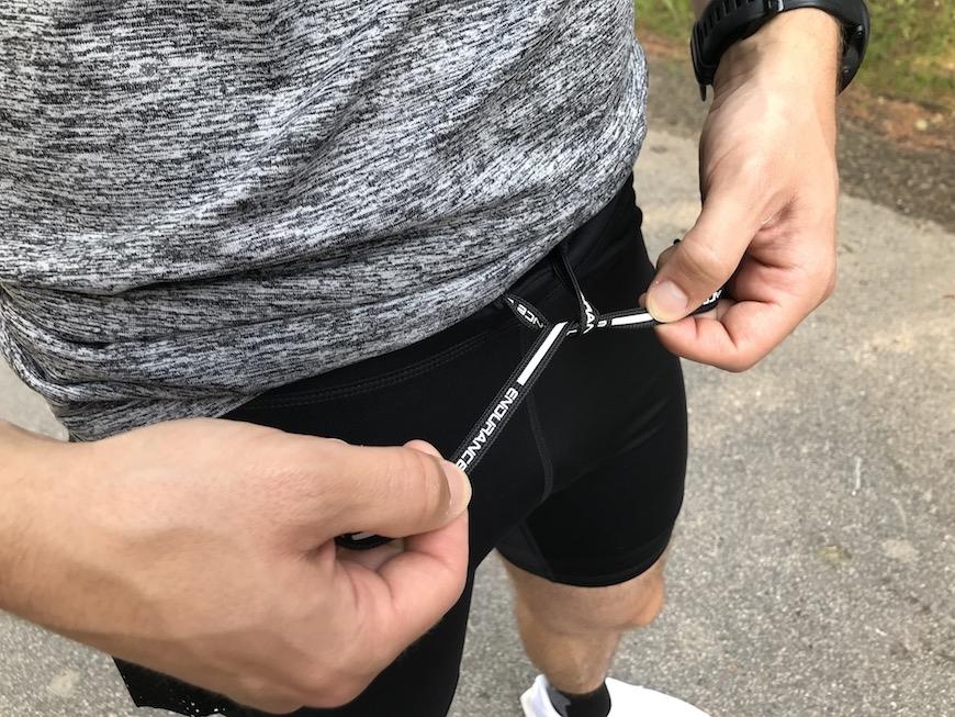 endurance ricky korte løbetights snørebånd