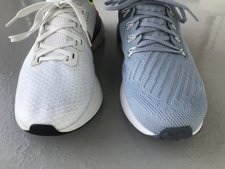 nike react infinity run flyknit vs. zoom structure 22 test