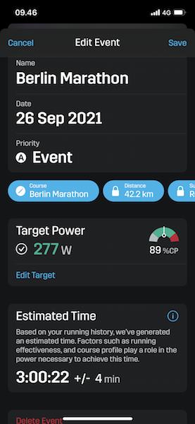 stryd marathon prediction berlin