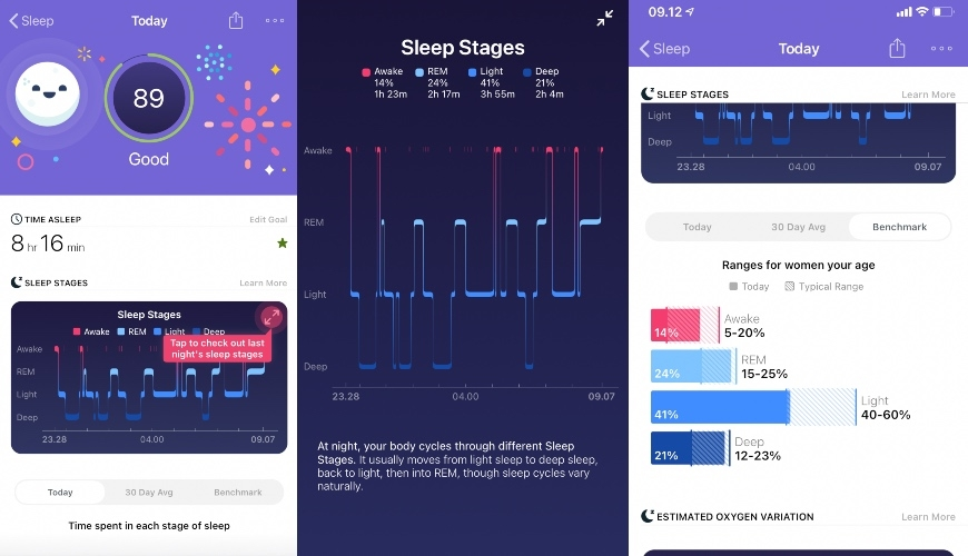 fitbit sleep stages