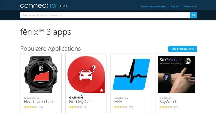 app store IQ Garmin